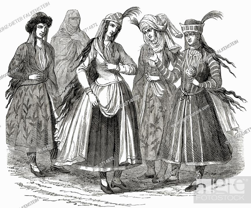 Stock Photo - Female Persian costumes 17th century  sc 1 st  Age Fotostock & Female Persian costumes 17th century Stock Photo Picture And ...