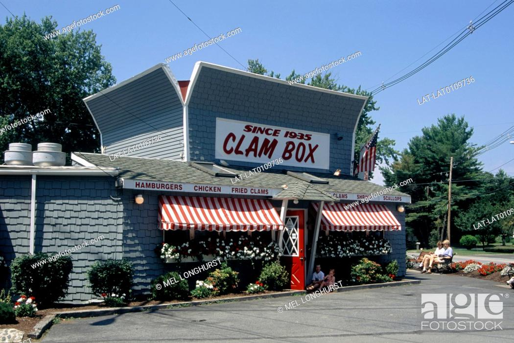 Stock Photo: Town. Seafood restaurant. Clam Box.