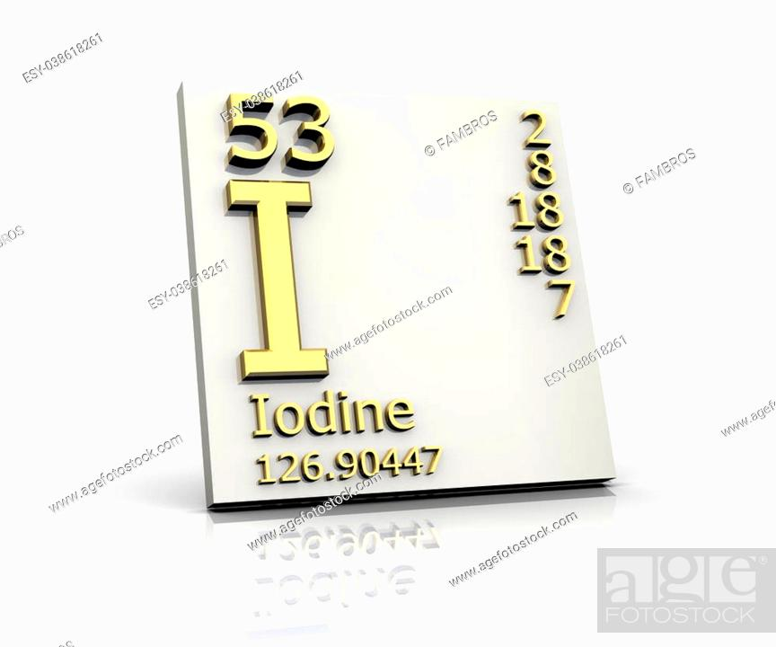 Iodine Periodic Table Stock Photos And Images Age Fotostock
