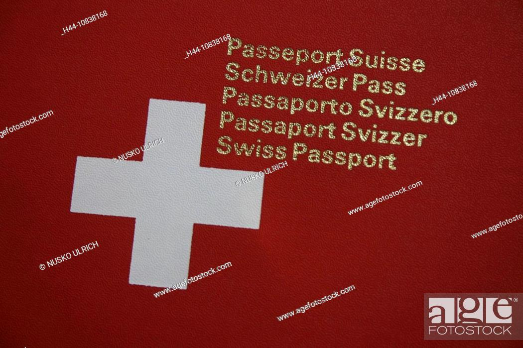 Swiss Passport Switzerland Europe Document Of Identification