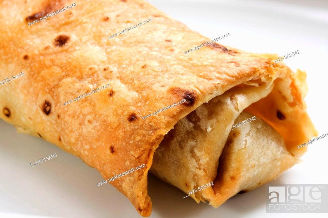 Stock Photo: Burrito. Mexican dish.