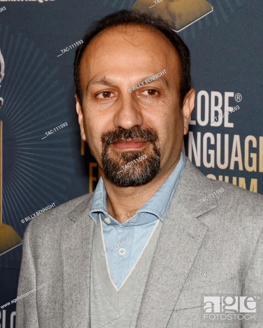 Stock Photo: The Salesman Director Asghar Farhadi attends the American Cinematheque Golden Globe Symposium of Foreign-Language Nominated Film with their Directors at the.
