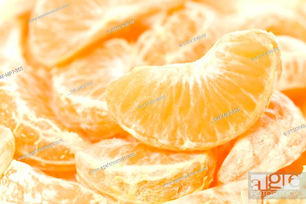 Stock Photo: Detail of tangerine slices.