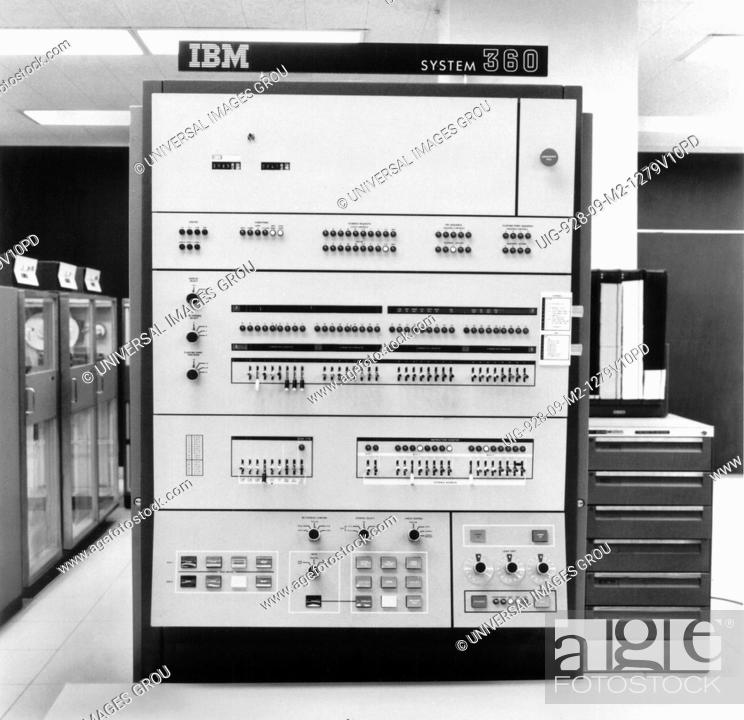 Ibm 360 Mainframe Computer, Stock Photo, Picture And Rights Managed ...