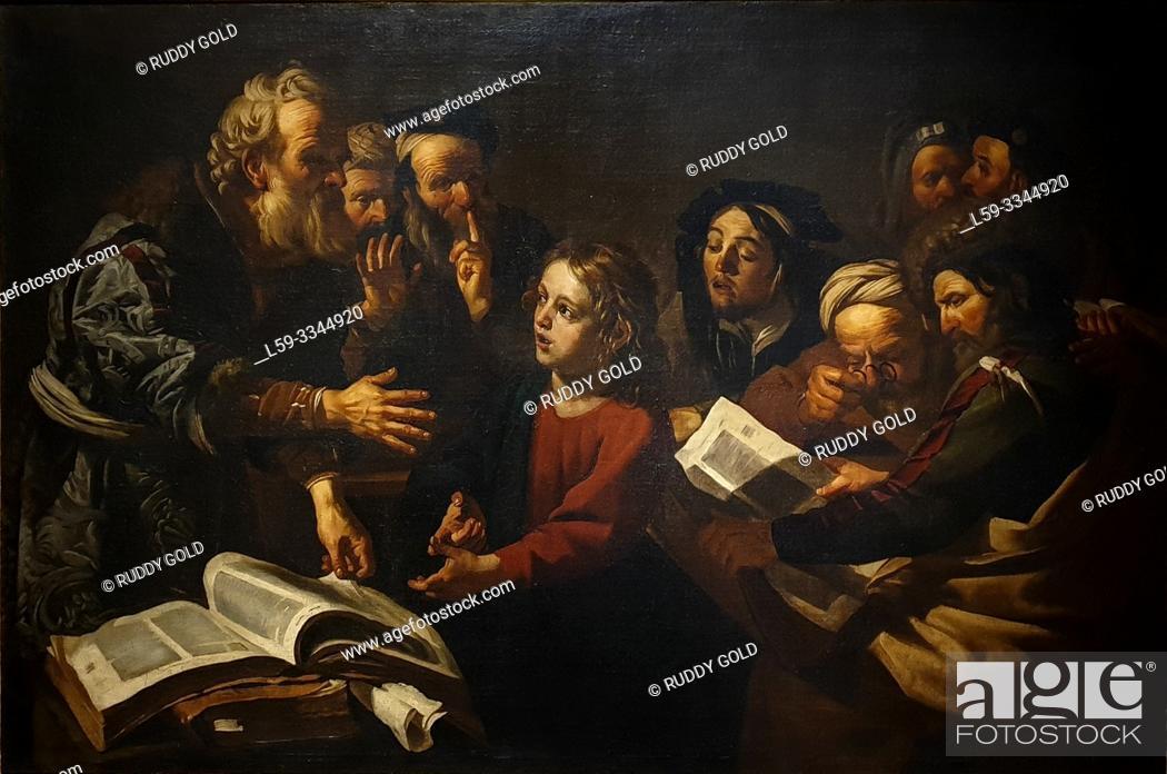 Stock Photo: 'Christ among the Doctors', 1618, Dirck van Baburen (1595-1624).
