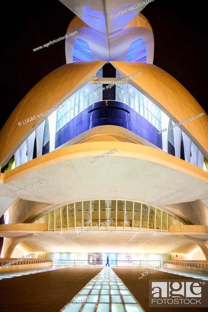 Stock Photo: Palace of Arts 'Reina Sofia', City of Arts and Sciences. Valencia, Spain.