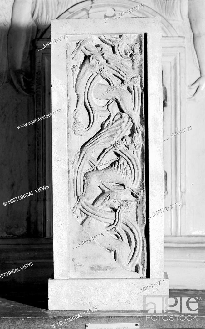 Stock Photo: Fragment of Animal Frieze - 1100/50 - Italian, Lombardy - Origin: Italy, Date: 1100-1150, Medium: Limestone, Dimensions: 48.3 x 16.2 cm (19 x 6 3/8 in.