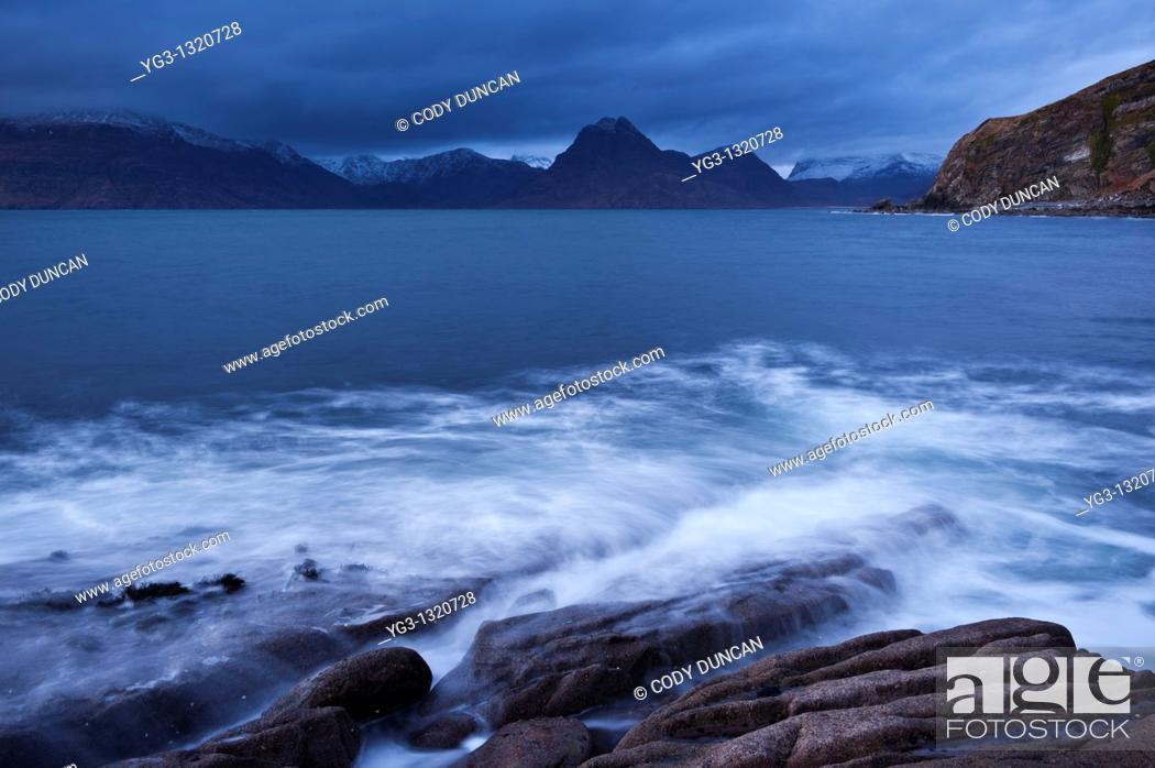 Stock Photo: View towards Black Cuillins from Elgol, Isle of Skye, Scotland.