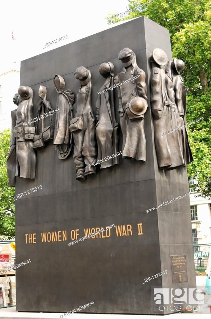 Stock Photo: Monument THE WOMEN OF WORLD WAR II, near Whitehall, London, England, United Kingdom, Europe.