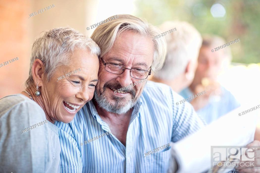 Stock Photo: Portrait of happy senior couple.