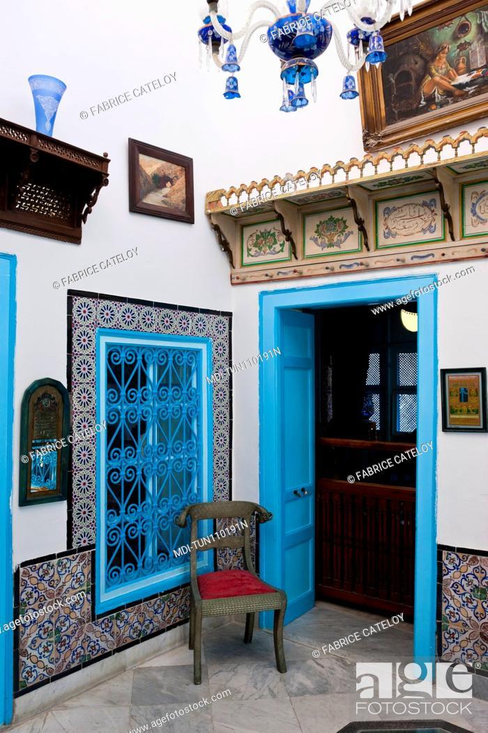 Imagen: Tunisia - Sidi Bou Said - House Darel-Annabi - 1st floor of the house.
