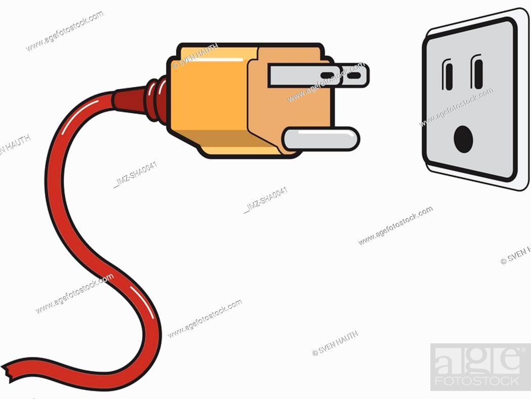 Stock Photo: Electrical plug.