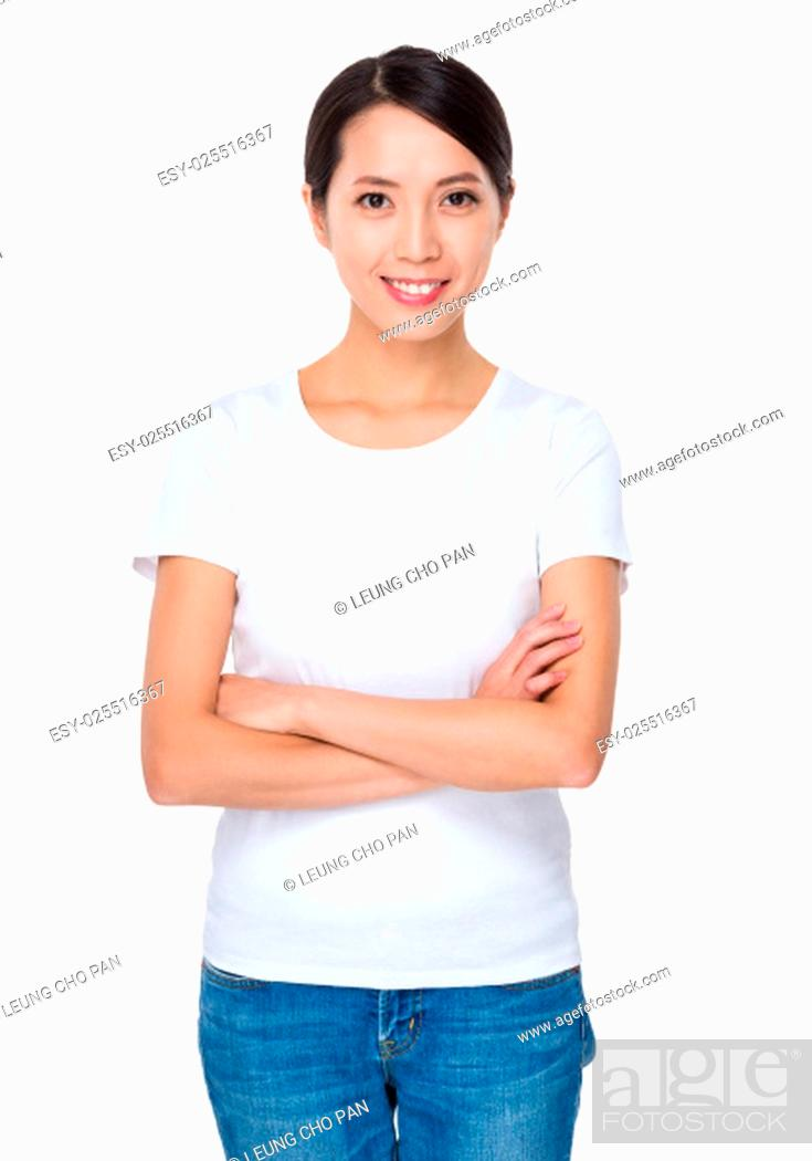 Stock Photo: Asian young woman.