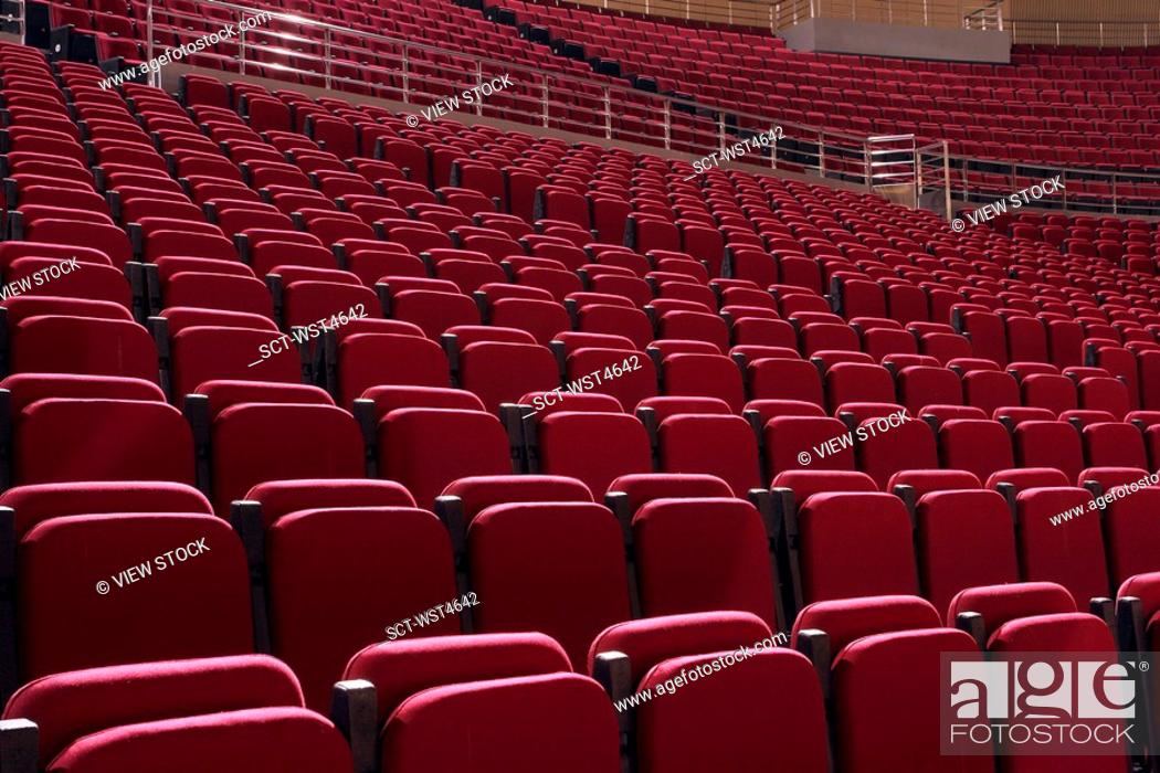 Stock Photo: Beijing Wukesong Sports Center Basketball Field.