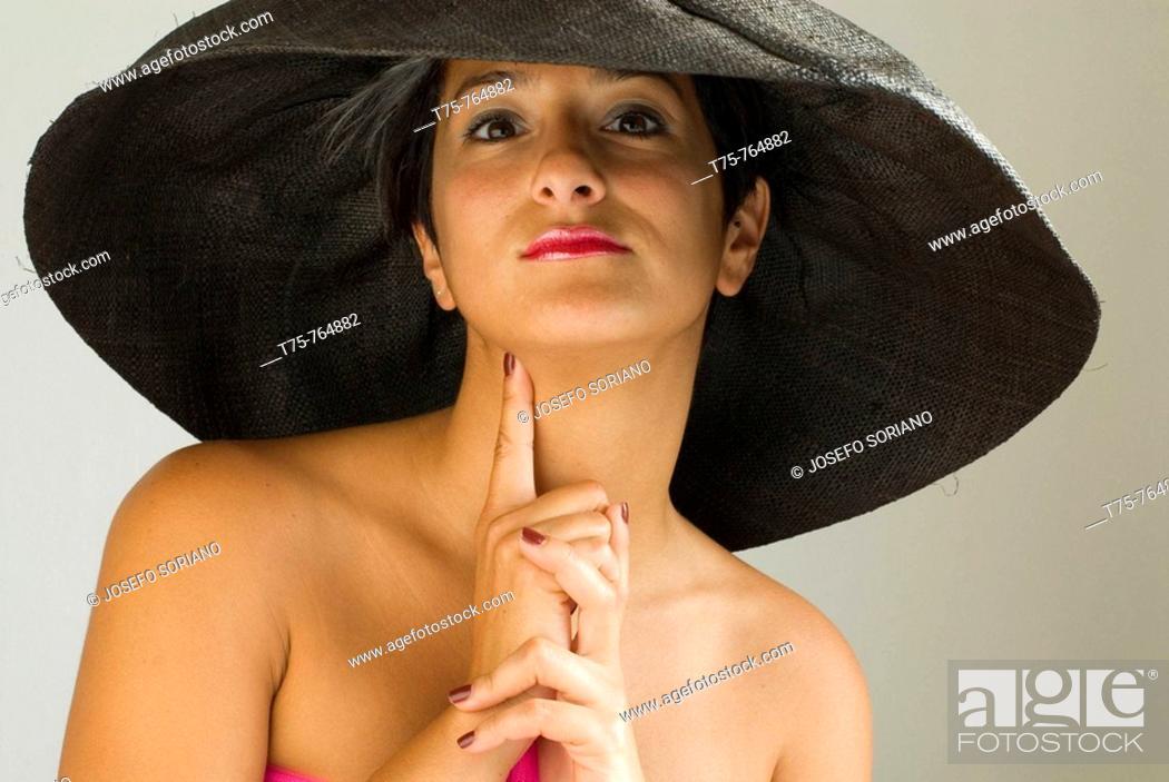 Stock Photo: Women with pamela.