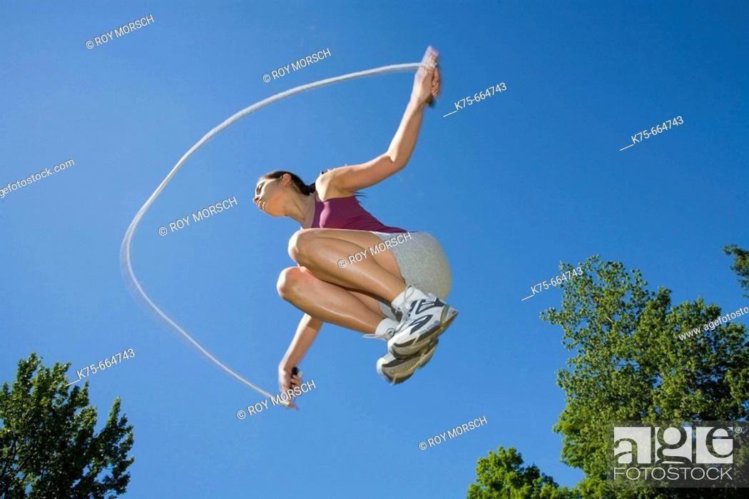 Stock Photo: Jumping rope.