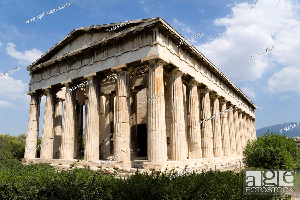 Stock Photo: The Temple of Hephaestus, best-preserved ancient Greek temple, Athens, Greece.