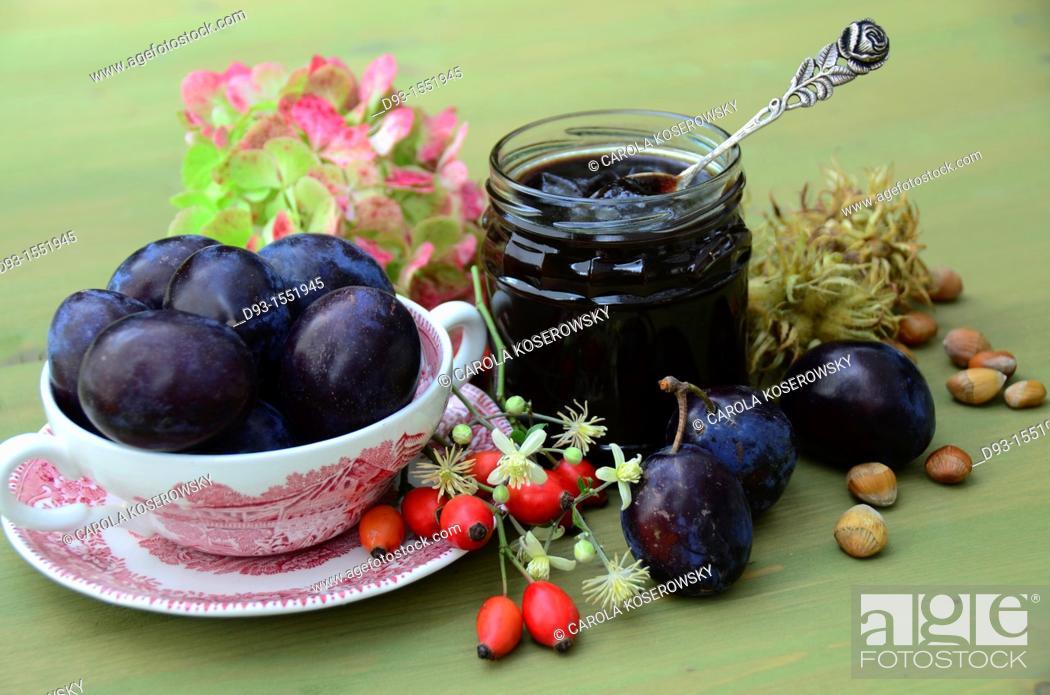 Stock Photo: delicious plum-jam.