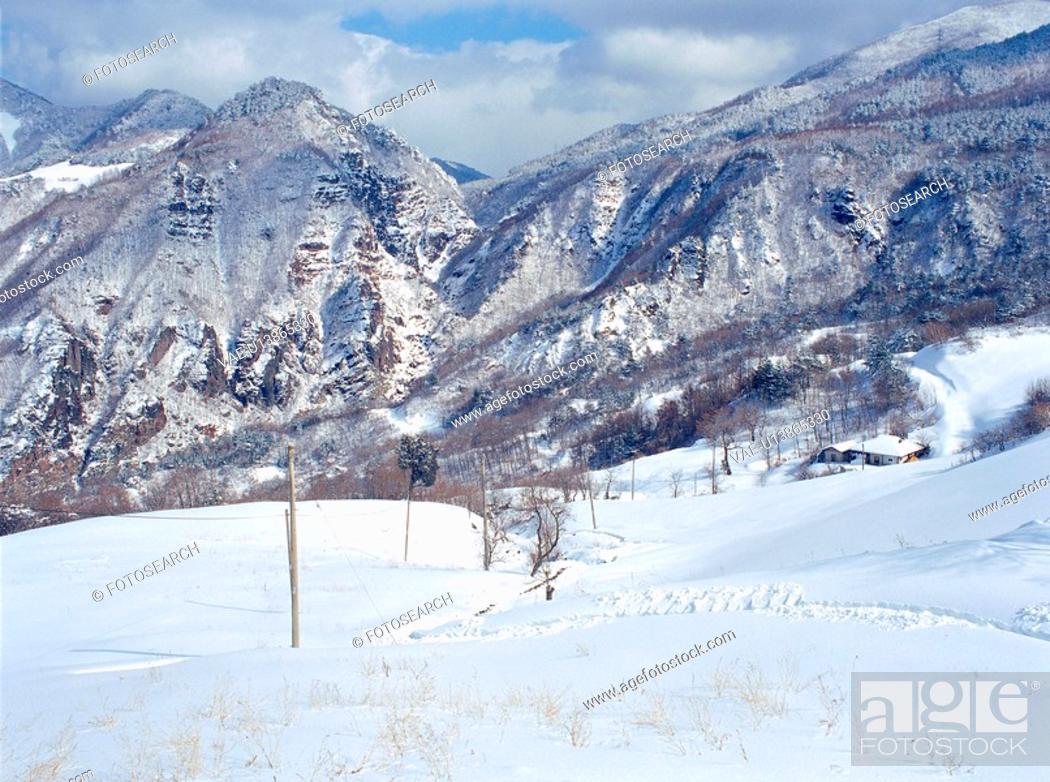 Stock Photo: mountain, scenery, winter, season, snow, cold, nature.