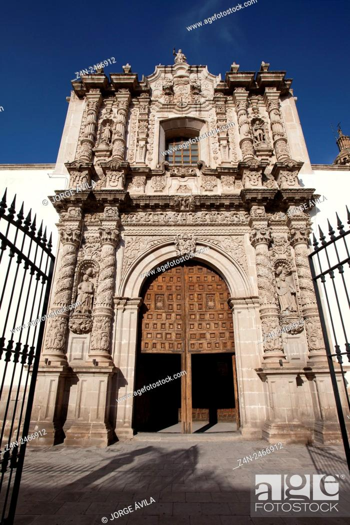 Stock Photo: Cathedral, Durango, Mexico.