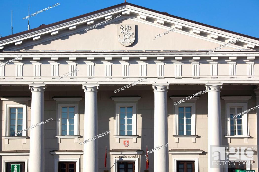 Stock Photo: Lithuania, Vilnius, former Vilnius Town Hall.