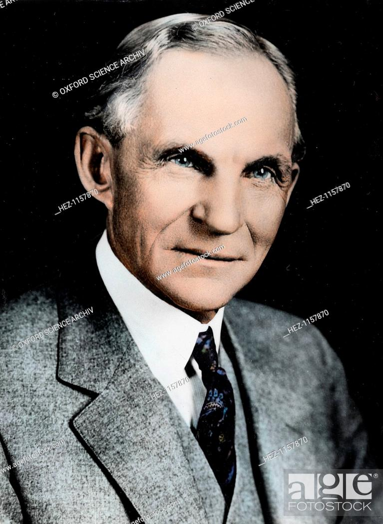 Stock Photo: Henry Ford, American engineer and automobile manufacturer, c1910-c1930. In 1903, Henry Ford (1863-1947) founded the Ford Motor Company.