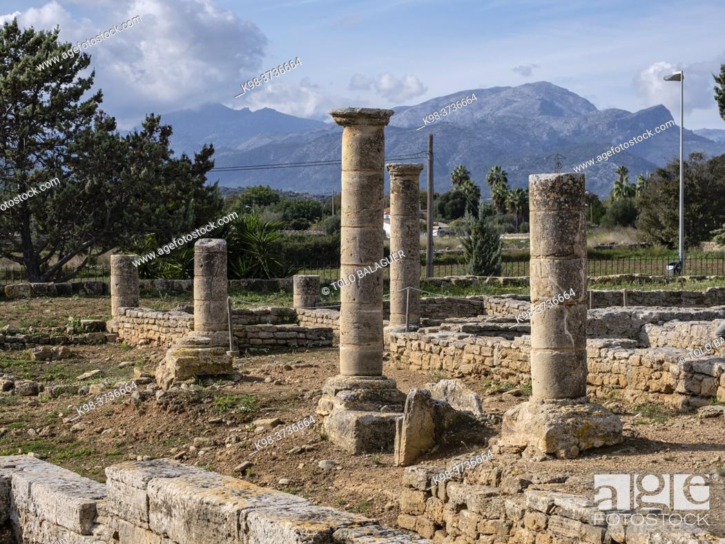 Stock Photo: Roman city of Pollentia, Alcudia, Mallorca, Balearic Islands, Spain.