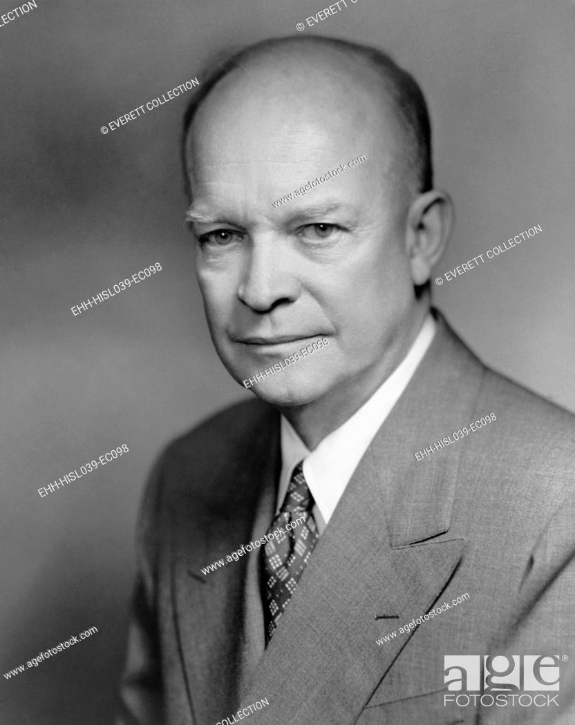 Stock Photo: General Dwight Eisenhower. 1952 portrait by Bachrach. - (BSLOC-2014-16-49).