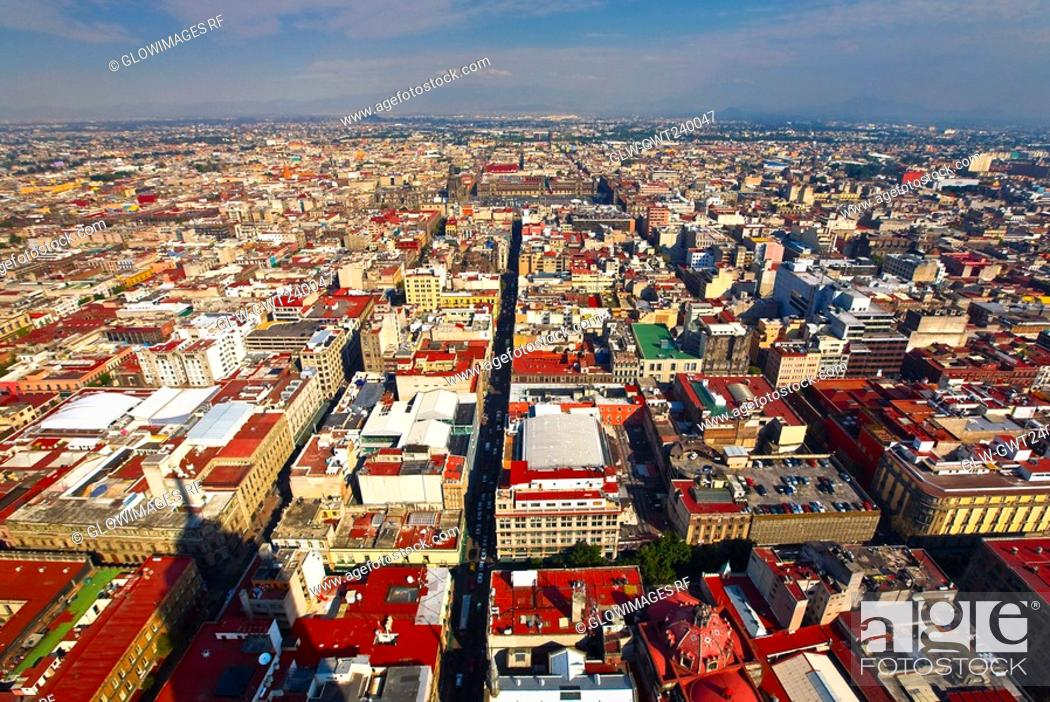 Stock Photo: Aerial view of a city, Mexico city, Mexico.