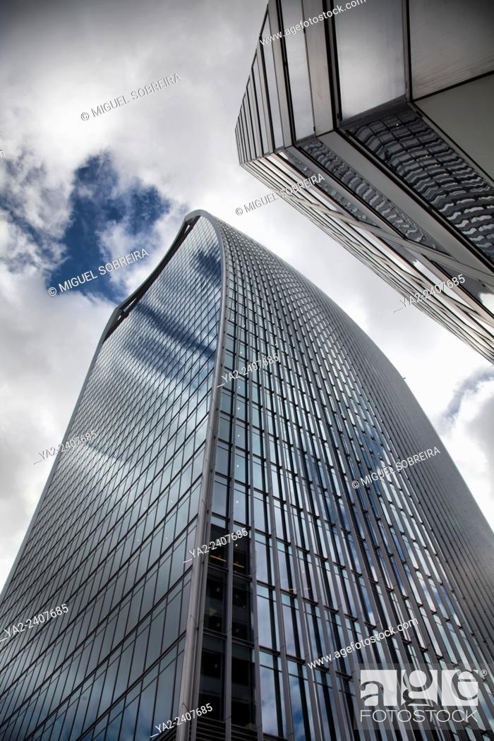 Stock Photo: The 'Walkie Talkie' - 20 Fenchurch Street Building from Fenchurch street in London UK.