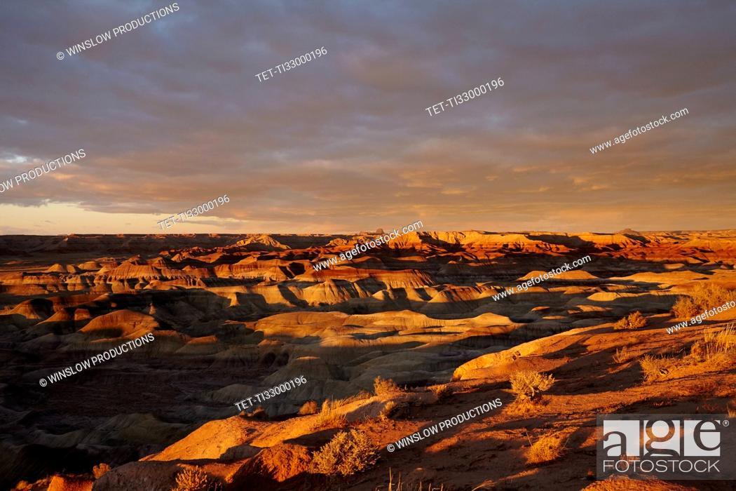 Photo de stock: Little Painted Desert at sunset.