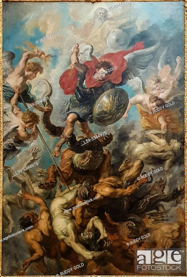 Imagen: 'Saint Michael expelling Lucifer and the Rebel Angels ', 1622, by Peter Paul Rubens (1577-1640).