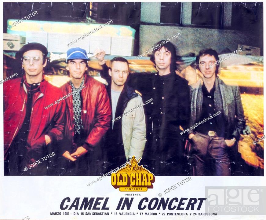Imagen: Camel in concert, 1981 Madrid, Musical concert poster.