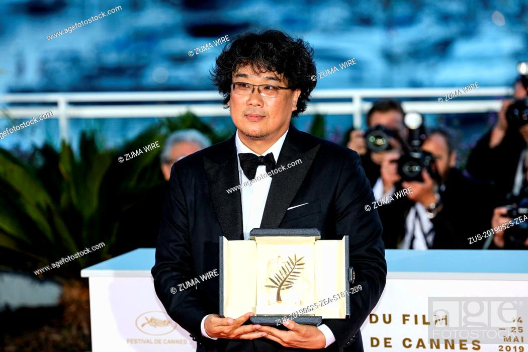 Stock Photo: May 25, 2019 - Cannes, France - CANNES - MAY 25:  Bong Joon-Ho on LES LAURÉATS DU 72e FESTIVAL DE CANNES Photocall during the 2019 Cannes Film Festival on May.