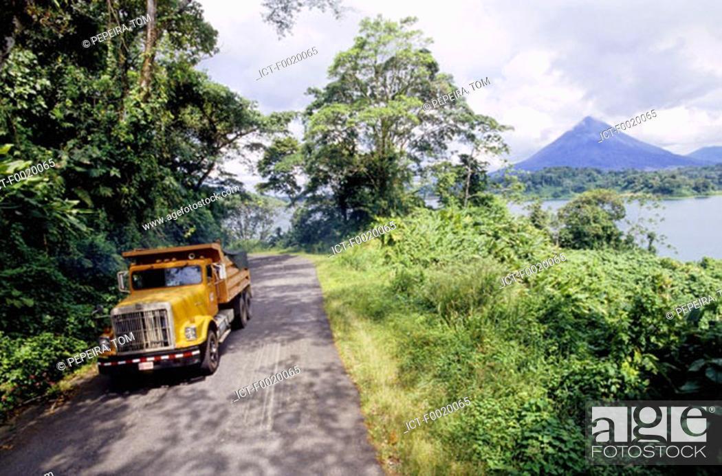 Stock Photo: Costa Rica, Lake Arenal.