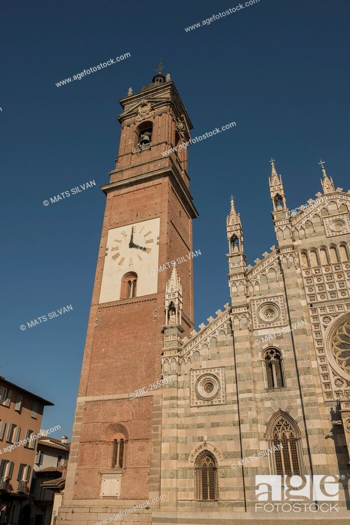 Stock Photo: Monza Cathedral with bell tower in Lombardy, Italy.