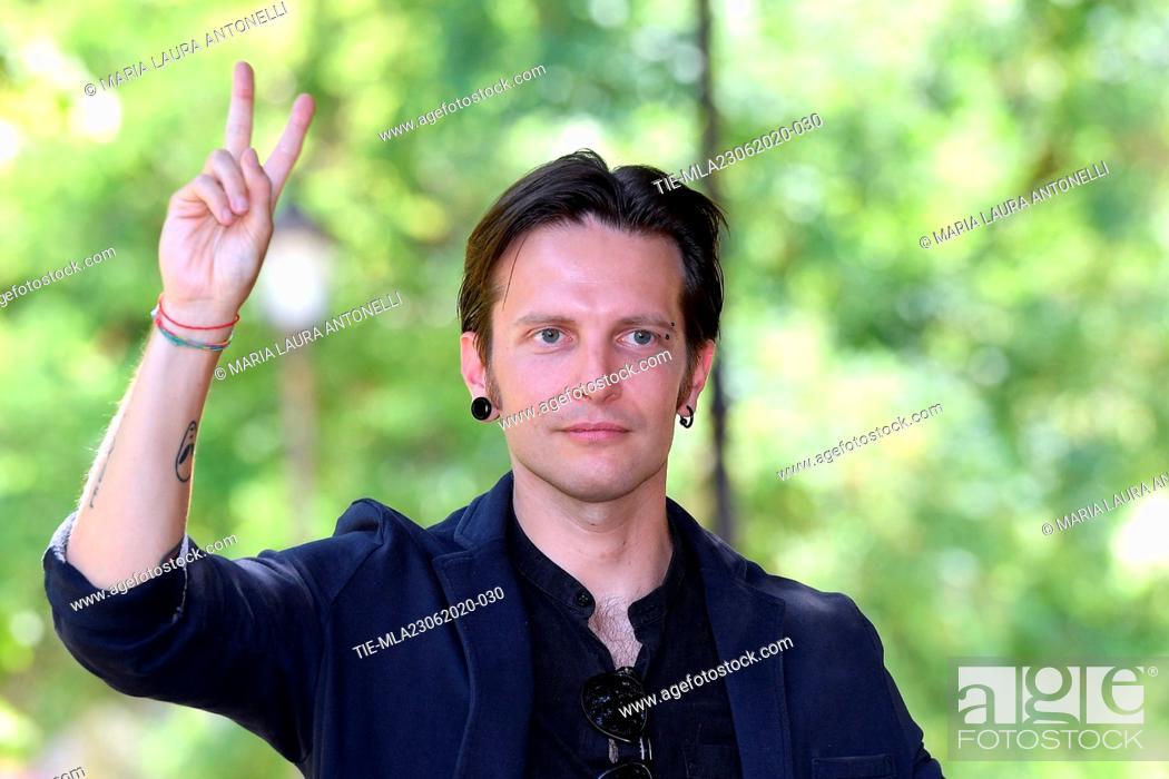 Stock Photo: Director Francesco Fanuele during the photocall of film ' Il Regno' (The Kingdom) , Rome, ITALY-23-06-2020.