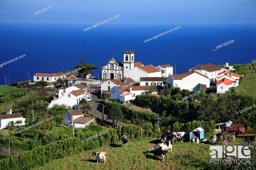 Stock Photo: Partial view of Pedreira do Nordeste village  Sao Miguel island, Azores, Portugal.
