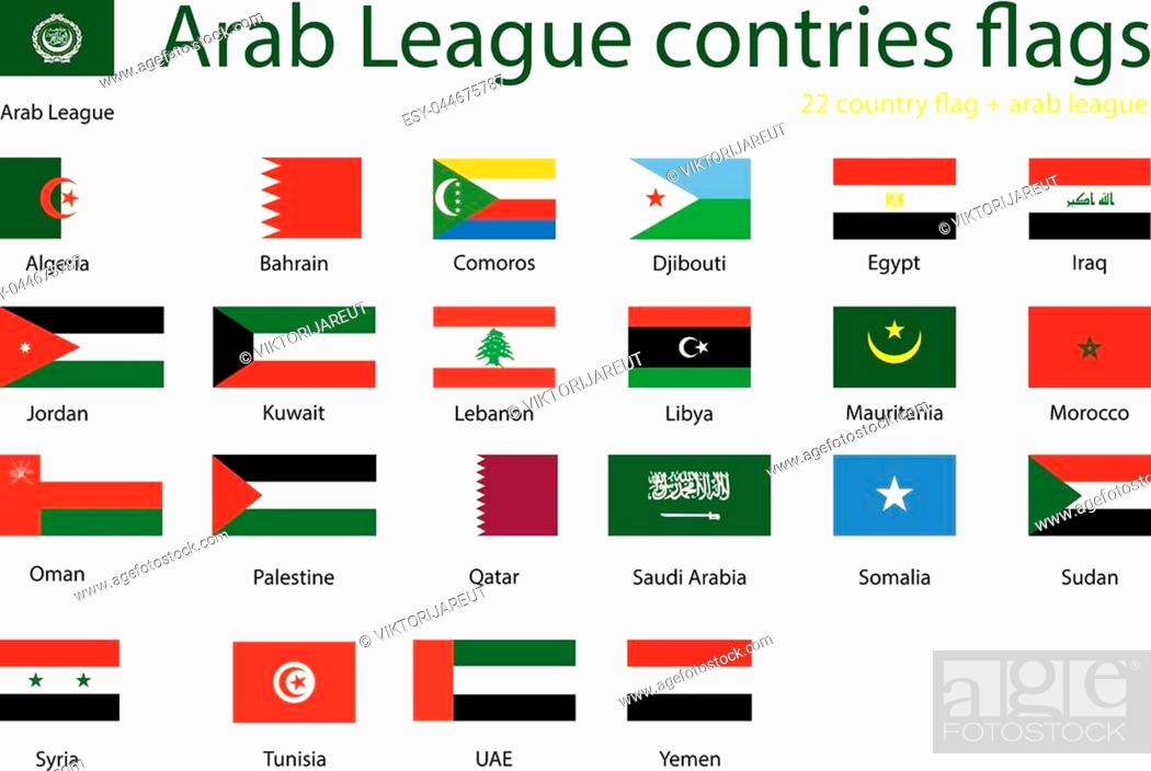 Picture of: Member States Of Arab League Set Of Country Flags League Of Arab States Stock Vector Vector And Low Budget Royalty Free Image Pic Esy 044675787 Agefotostock