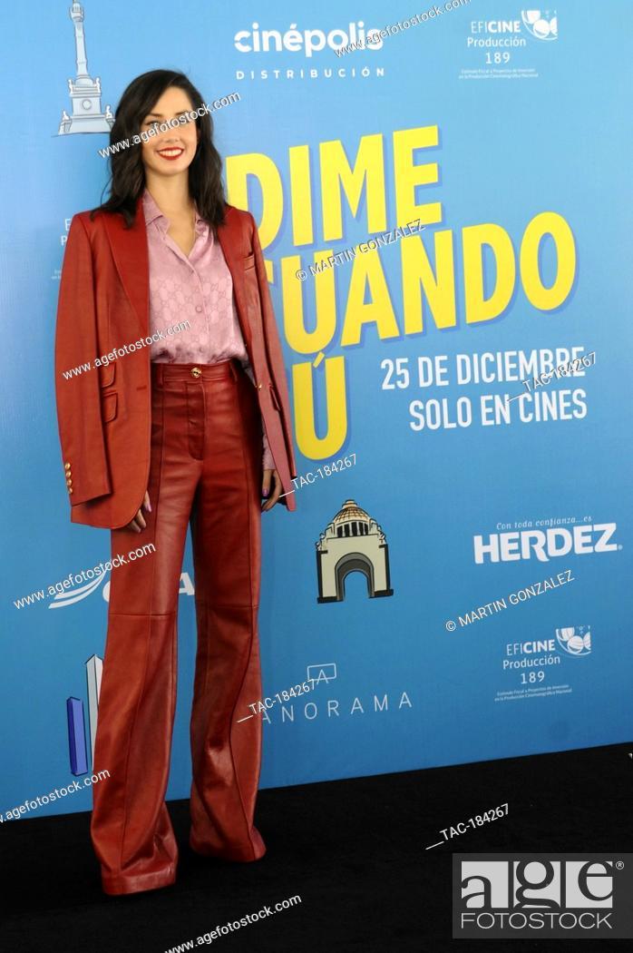 Stock Photo: MEXICO CITY, MEXICO ñ DECEMBER 14: Ximena Romo during the press conference for the movie ëDime Cuando Tuí on December 14 2020 in Mexico City, Mexico.