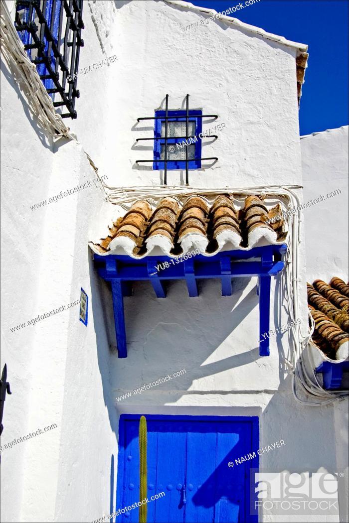 Stock Photo: Fragment of Inn 'Venta del Quichote', Puerto Lapice, La Mancha, Spain.