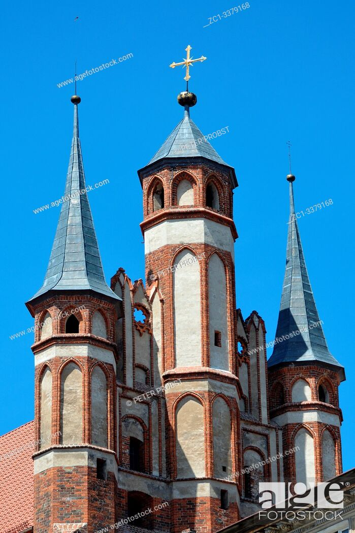 Stock Photo: Church of the Virgin Mary in the old city of Torun - Poland.