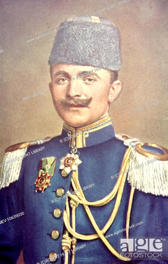 Ismail Enver Pasha 1881 1922 Turkish Military Officer Stock