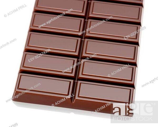 Stock Photo: bar of chocolate.
