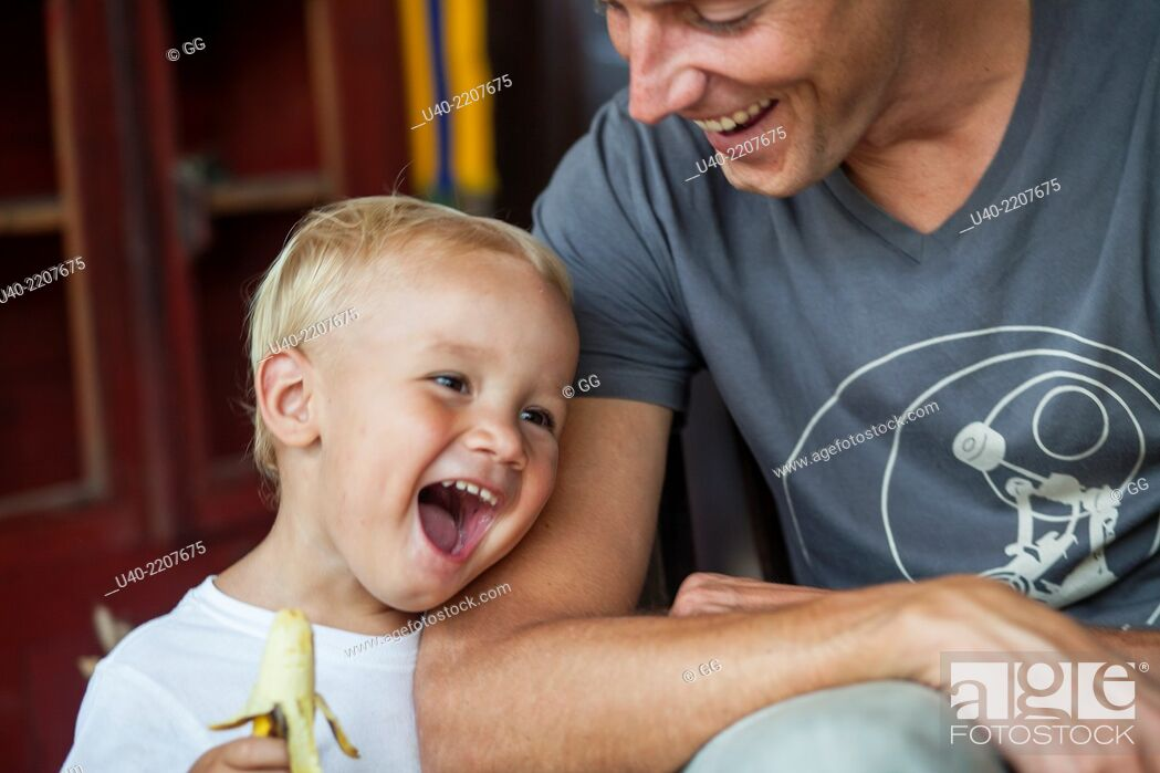 Stock Photo: Boy with Father.