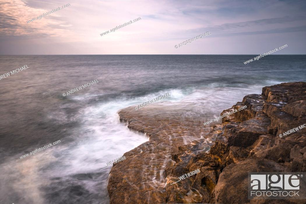 Stock Photo: Portland Bill coastline on the Isle of Portland in Dorset, England, UK.