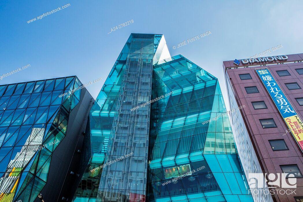 Stock Photo: Japan, Tokyo City, Harajuku Area Architecture.