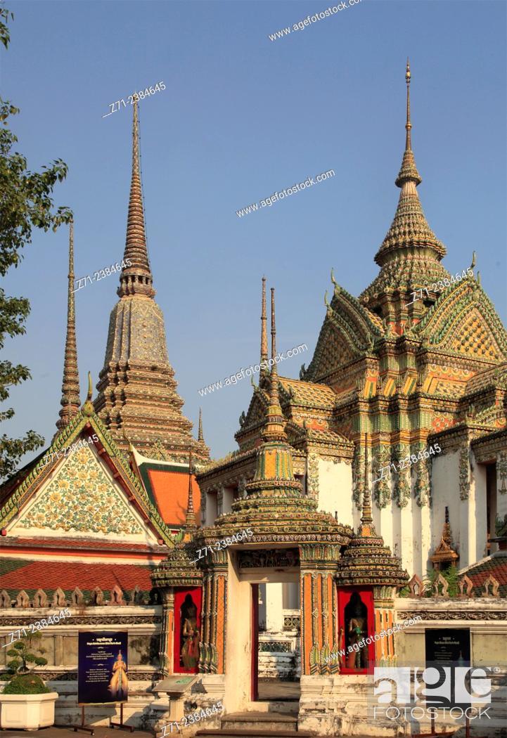Stock Photo: Thailand, Bangkok, Wat Pho, buddhist temple, monastery.