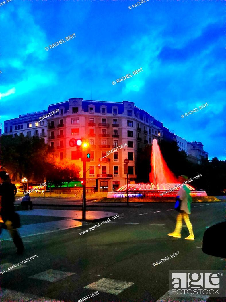 Stock Photo: Gran Via, Barcelona.