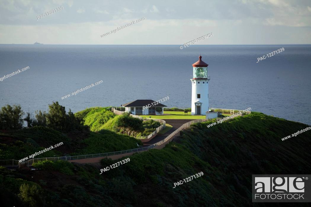 Stock Photo: Kilauea Lighthouse; Kilauea, Kauai, Hawaii, United States of America.